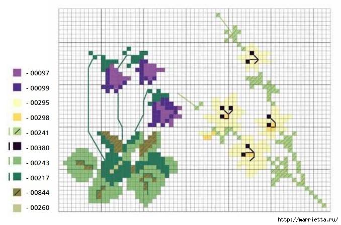 вышивка крестом. идеи со схемами (8) (678x448, 168Kb)