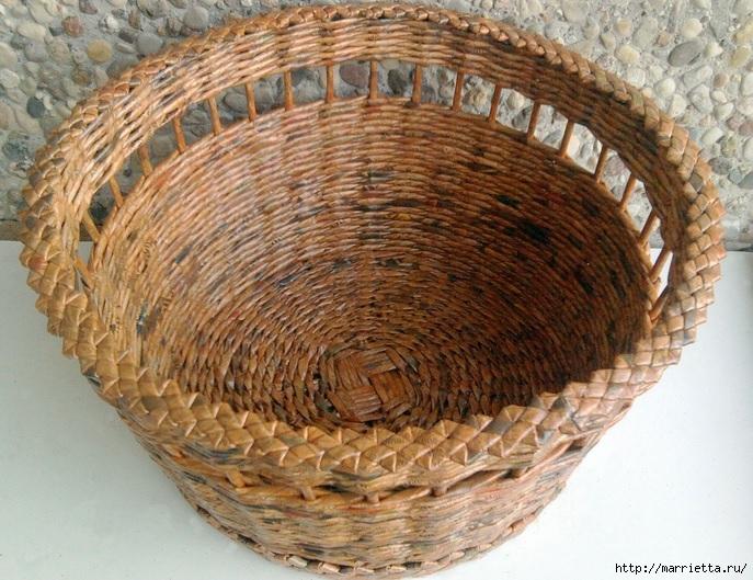 Плетение из газет. Мастер-класс и примеры применения фигурной косички (20) (687x529, 307Kb)