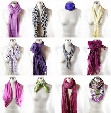 Как завязать шарф на шее 25