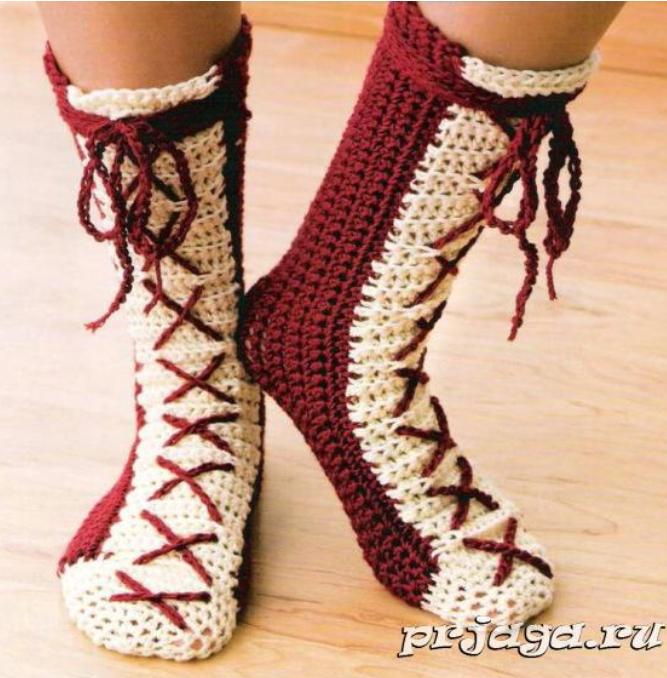 Носки крючком от Linda Guerin