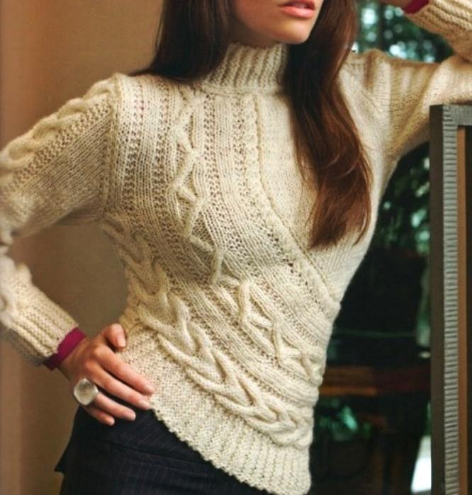Вязание спицами свитеров жакетов 94