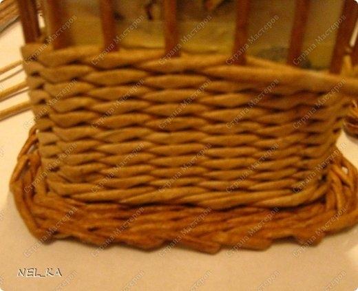 Плетение из газет. Чайный домик. Мастер-класс (10) (520x423, 114Kb)