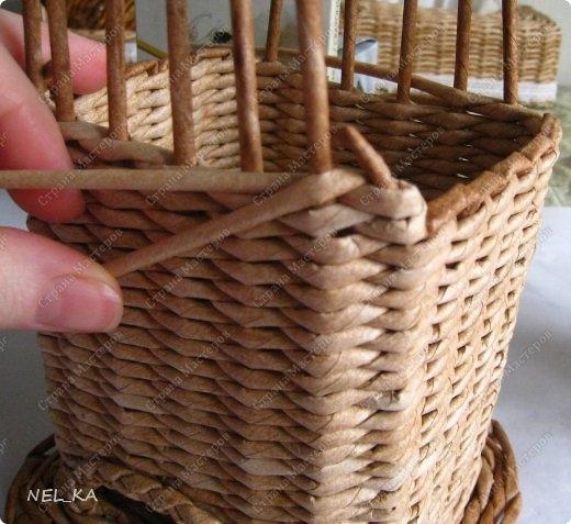 Плетение из газет. Чайный домик. Мастер-класс (16) (520x477, 151Kb)