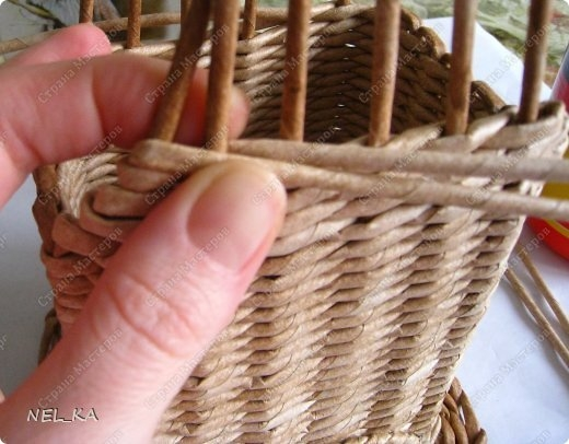 Плетение из газет. Чайный домик. Мастер-класс (18) (520x406, 124Kb)