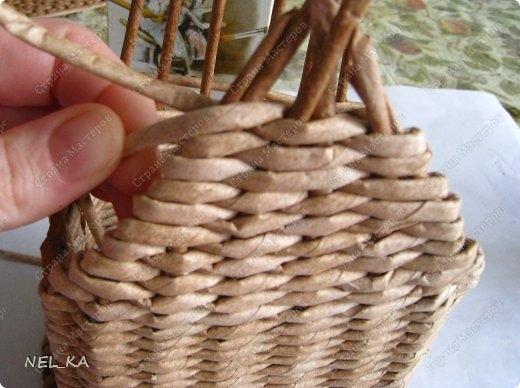 Плетение из газет. Чайный домик. Мастер-класс (20) (520x388, 116Kb)
