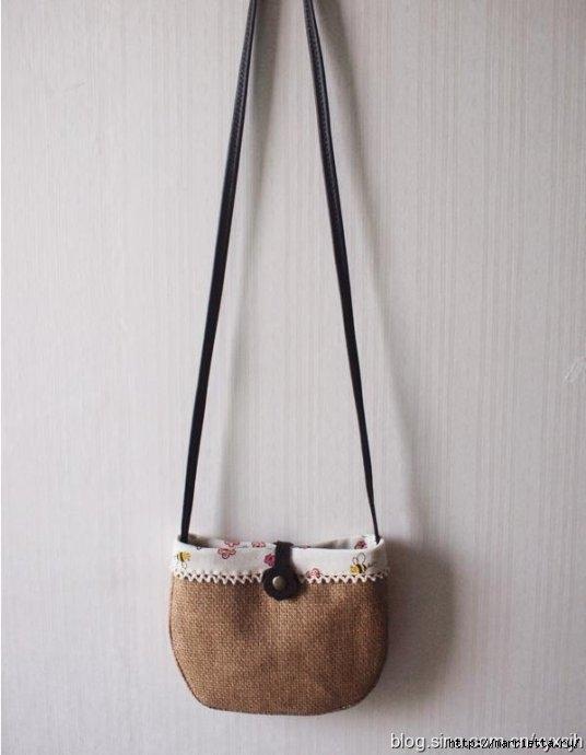 Элегантная сумочка из мешковины. Шьем сами (19) (536x690, 125Kb)