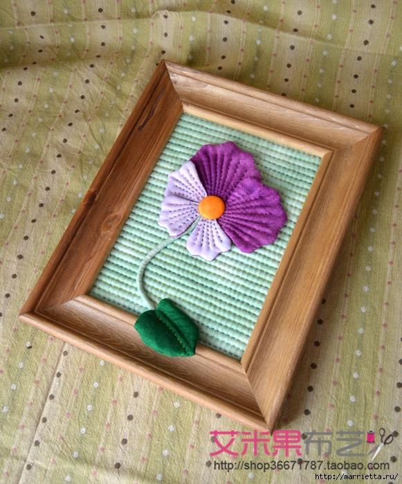 Текстильное панно с цветком (3) (581x700, 377Kb)