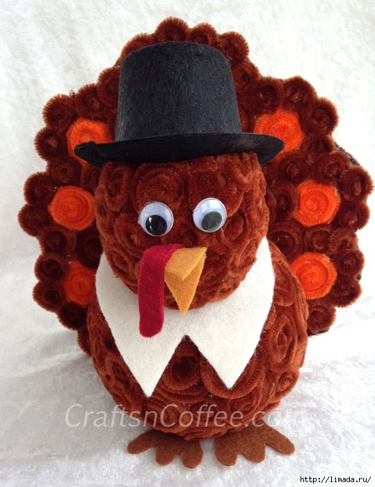 chenille-turkey-diy (539x700, 272Kb)