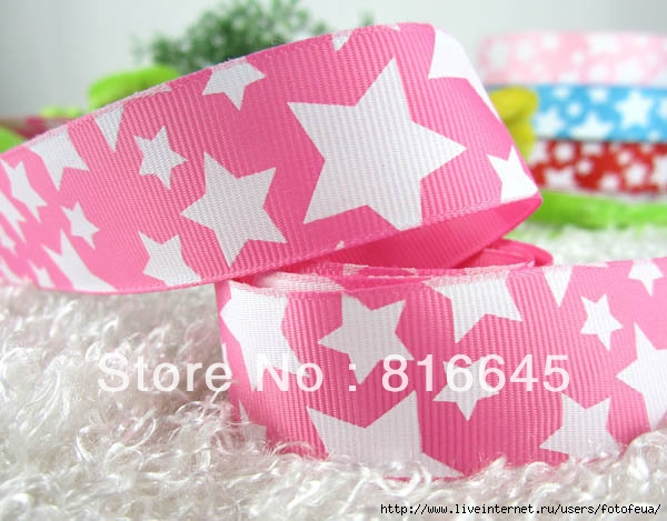 Free-Shipping-Width1-Plum-color-ground-Printed-white-pentacle-Grosgrain-Ribbon-50yards (600x469, 171Kb)