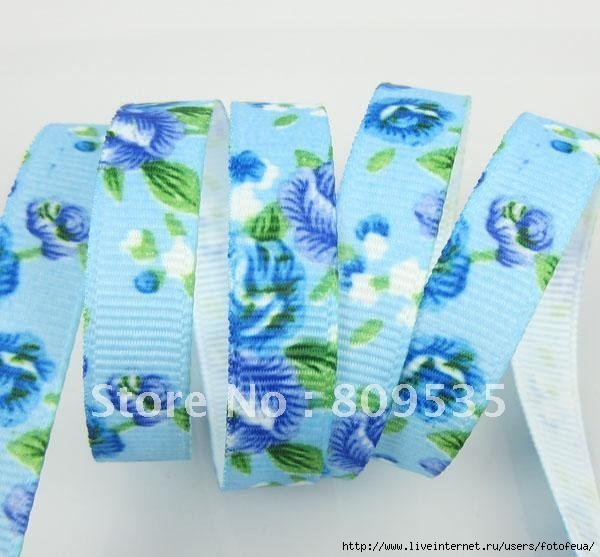 New-Arrival-Width-3-8-Blue-Ground-Printing-Beautiful-Blue-Flowers-Grosgrain-Ribbon-50Yards (600x557, 145Kb)