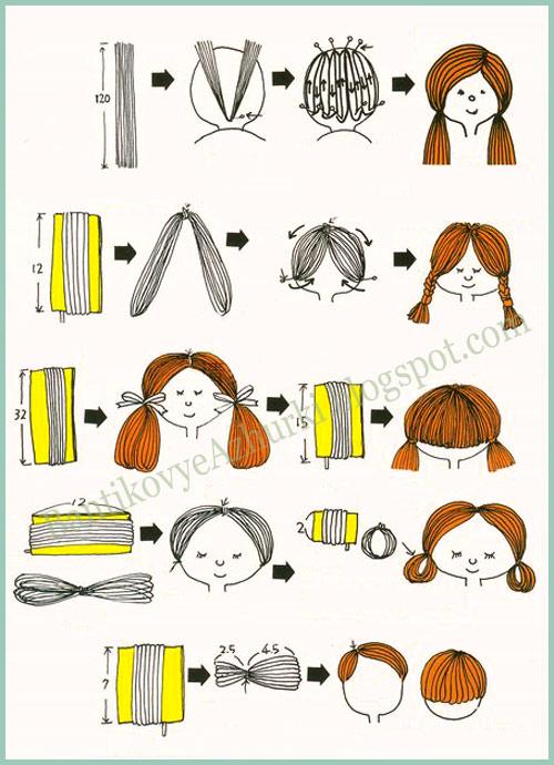 Как сделать прическу для кукол своими руками