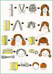 Как сделать волосы для куклы из ленты (мастер-класс).  Катрина (текстильная кукла).