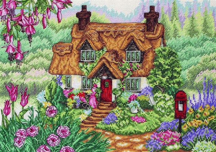 Stitchart-The-Flower-Barrow0 (700x492, 607Kb)