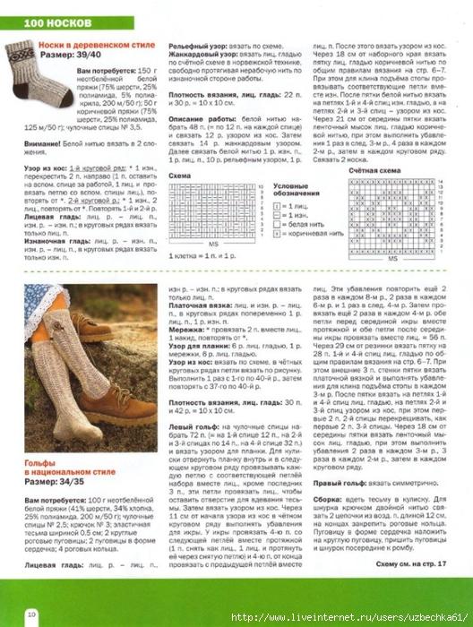 Осинка вязание носки спицами