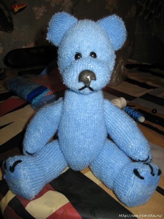 носка игрушка руками из мишка своими