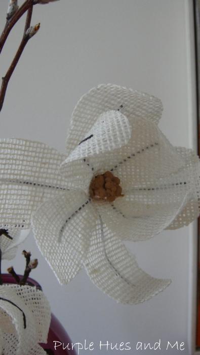 Цветы из мешковины. МАГНОЛИЯ (5) (395x700, 168Kb)