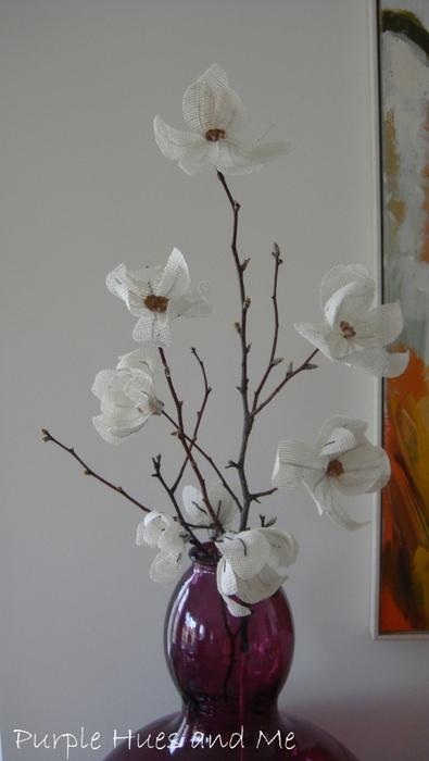 Цветы из мешковины. МАГНОЛИЯ (9) (395x700, 163Kb)