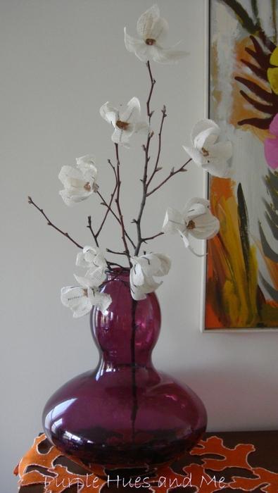 Цветы из мешковины. МАГНОЛИЯ (11) (395x700, 188Kb)