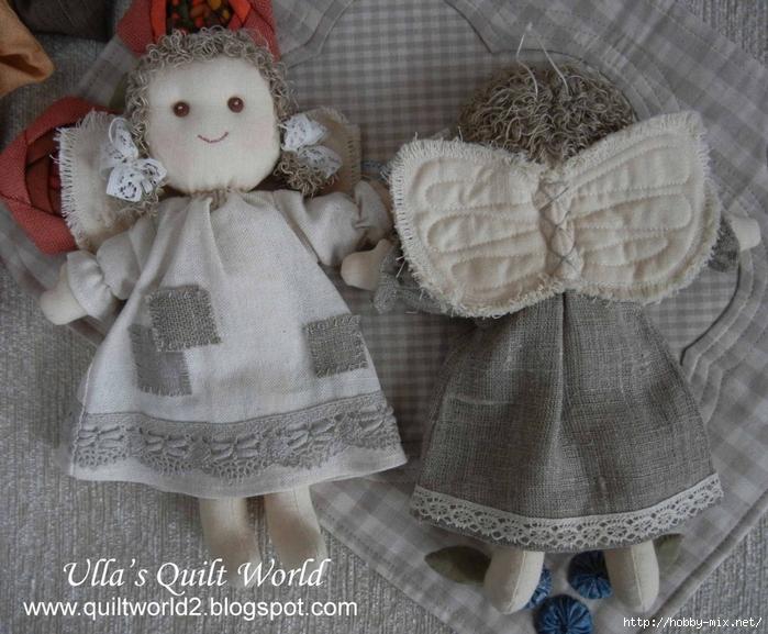 03  DSCN6790 Angel and pattern, quilt (700x577, 319Kb)