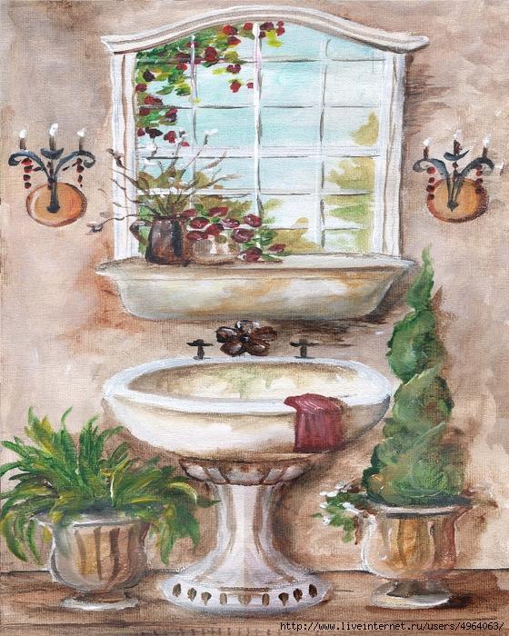 Картинки для декупажа для ванной комнаты