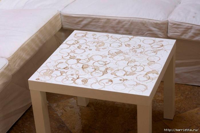 Мебель своими руками. Журнальный столик для любителей кофе (12) (700x465, 211Kb)