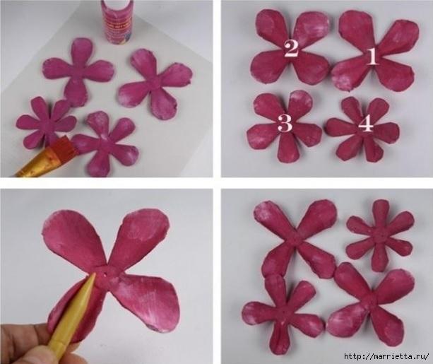 Самые красивые розы из яичных лотков. Мастер-класс (6) (613x515, 142Kb)