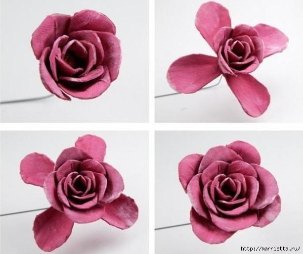Самые красивые розы из яичных лотков. Мастер-класс (8) (613x513, 131Kb)