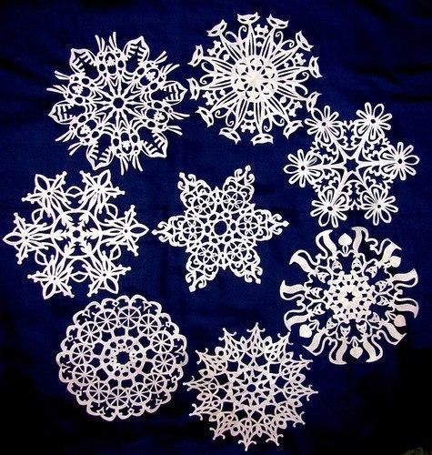 Подборка красивых снежинок из