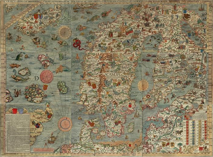 Биармия Biarmia. Carta Marina, 1539/4316166_Carta_Marina (700x518, 394Kb)
