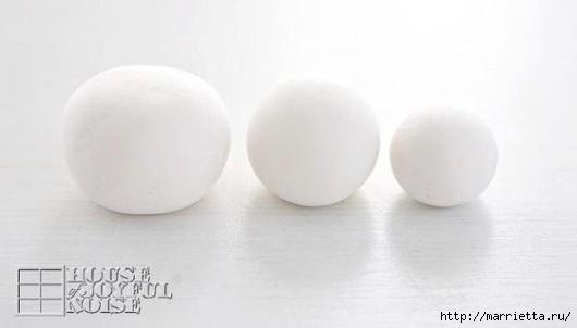 Снеговик из полимерной глины. Мастер-класс (2) (530x302, 44Kb)