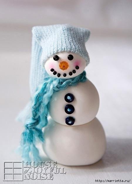 Снеговик из полимерной глины. Мастер-класс (4) (450x630, 95Kb)