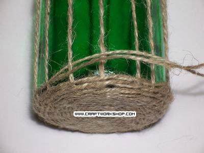 Оплетаем бутылку. Плетение джутом (8) (400x300, 67Kb)