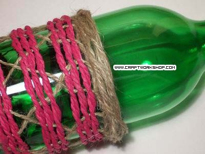 Оплетаем бутылку. Плетение джутом (23) (400x300, 83Kb)