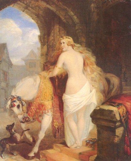 Marshall Claxton. Lady Godiva. 1850. (427x525, 46Kb)