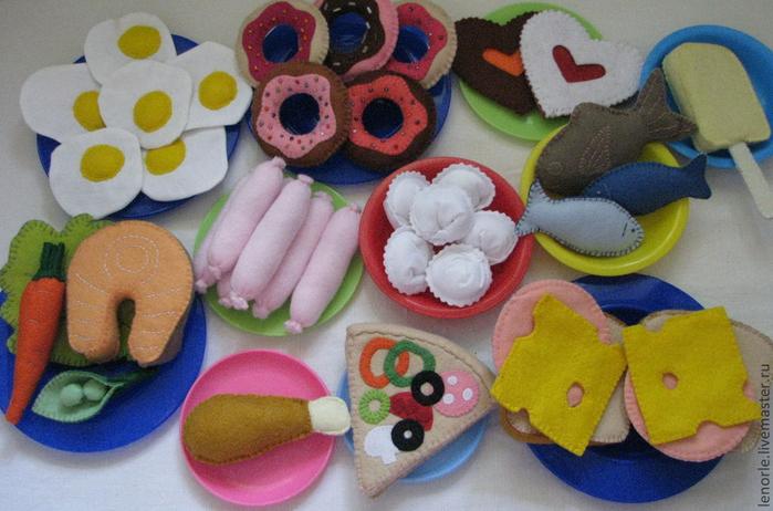 Как сделать игрушечную еду своими руками