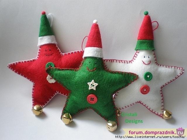 Мягкие новогодние игрушки своими руками фото
