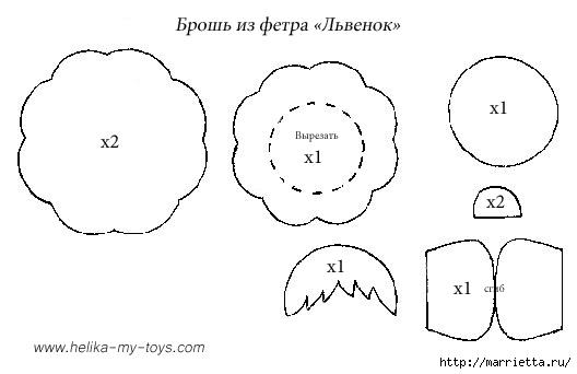 выкройки игрушек из фетра (14) (528x342, 54Kb)