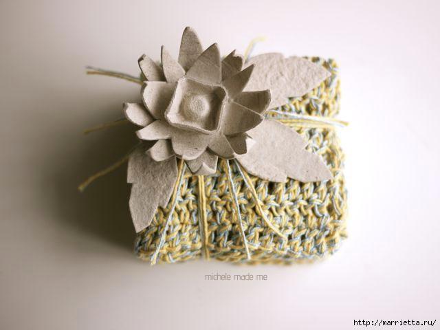 красота из картона- цветы из яичных лотков (42) (640x480, 104Kb)