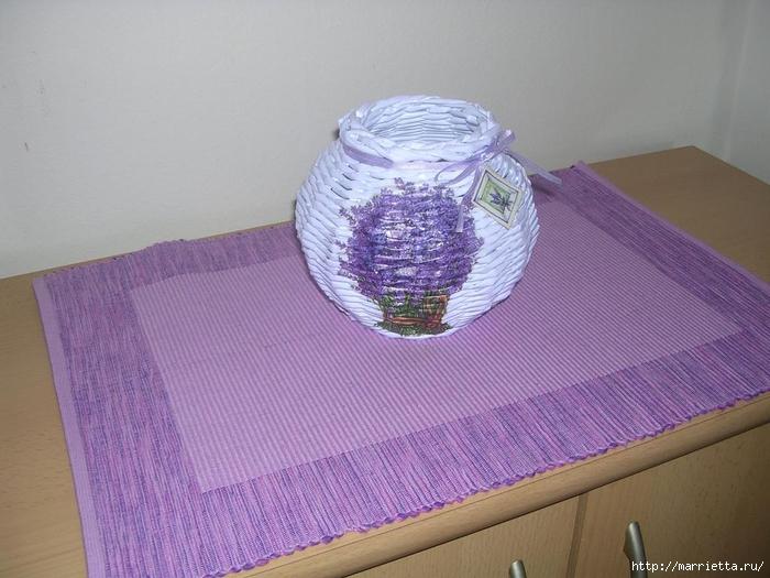 Плетение из газет для начинающих. Мастер-класс (21) (700x525, 248Kb)