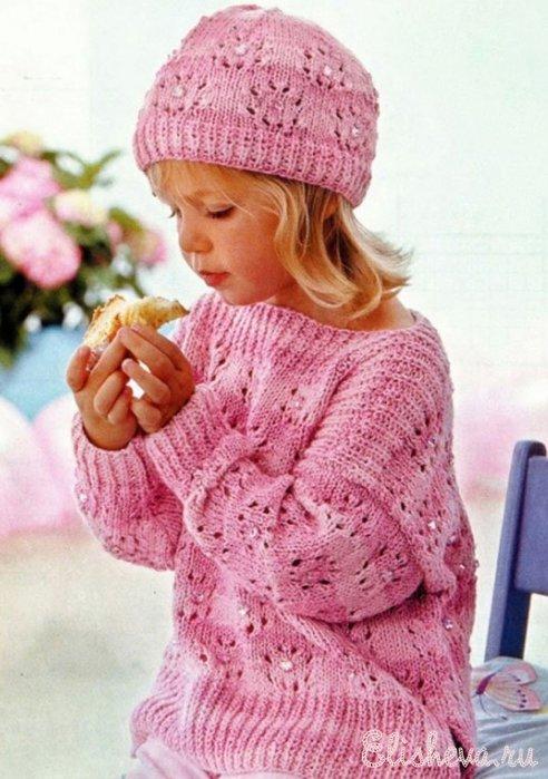 вязание для девочки (492x700, 78Kb)