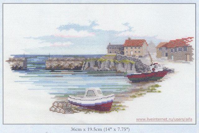 Вышивка крестом, схемы Морской