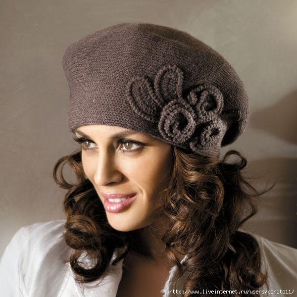 женские вязаные шапки!