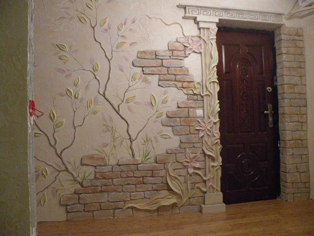 Декор своими руками из гипса на стене