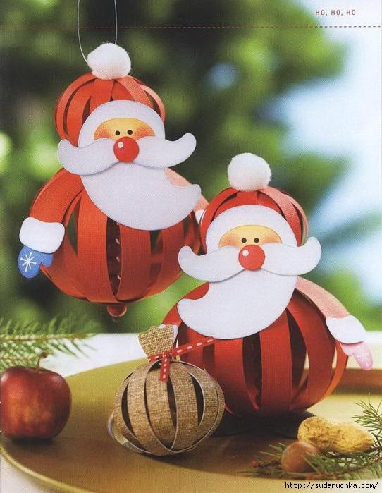 Новогодние игрушки и поделки из бумаги своими