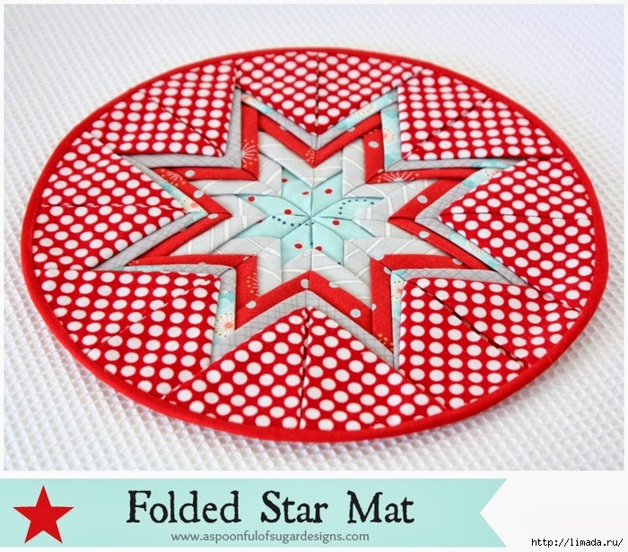 Folded Star Mat   1 (700x616, 391Kb)