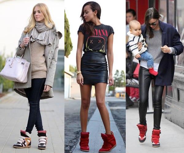 красные туфли на платформе с ремешком