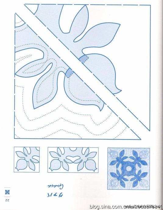 ГАВАЙСКИЙ КВИЛТ. Японский журнал со схемами (24) (535x690, 158Kb)