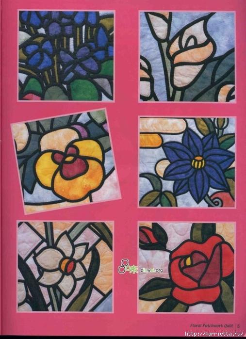 Гавайский квилт. ПАННО. Журнал со схемами (1) (507x700, 266Kb)