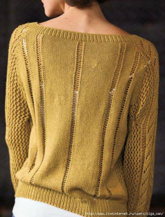 针织镂空黄色上衣 - maomao - 我随心动