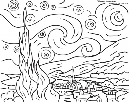 starry-night-by-vincent-van-gogh-coloring-page (441x350, 81Kb)